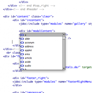 Dreamweaver-code-ergänzung verschwindet nicht
