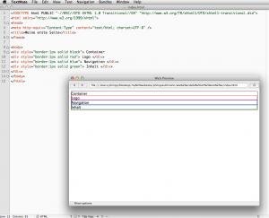 div-Boxen durch inline-CSS mit Rahmen versehen
