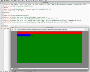 erstes Layout mit HTML & CSS