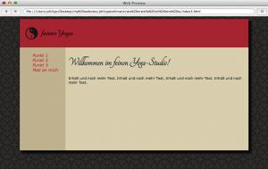 Layout mit eingebundener CSS-Schrift