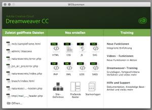 Website-Programmierung zum Beispiel mit Dreamweaver