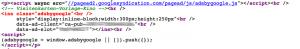 Adsense-code-Firefox