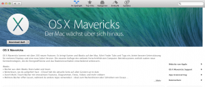 Mavericks download im App-Store