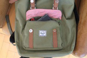 Fronttasche des Laptop-Rucksacks