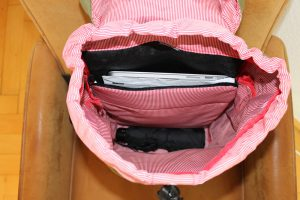 Blick ins Innere vom Laptop-Rucksack