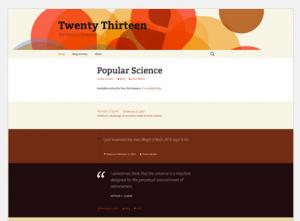 Twenty Thirteen Theme anpassen