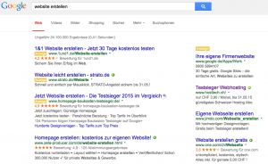 Titel aus Google Adwords