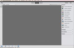 Assistenten-Ansicht von Photoshop-Elements
