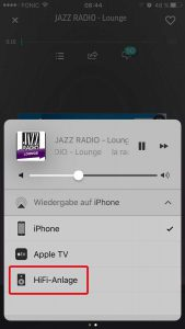 Liste der Airport-Express-Geräte unter iOS 10