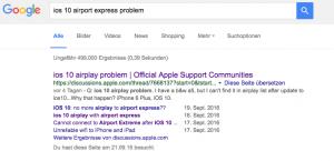 Viele Probleme mit Airplay unter iOS10