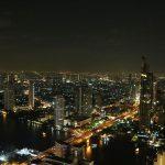 Blick von einer Skybar in Bangkok