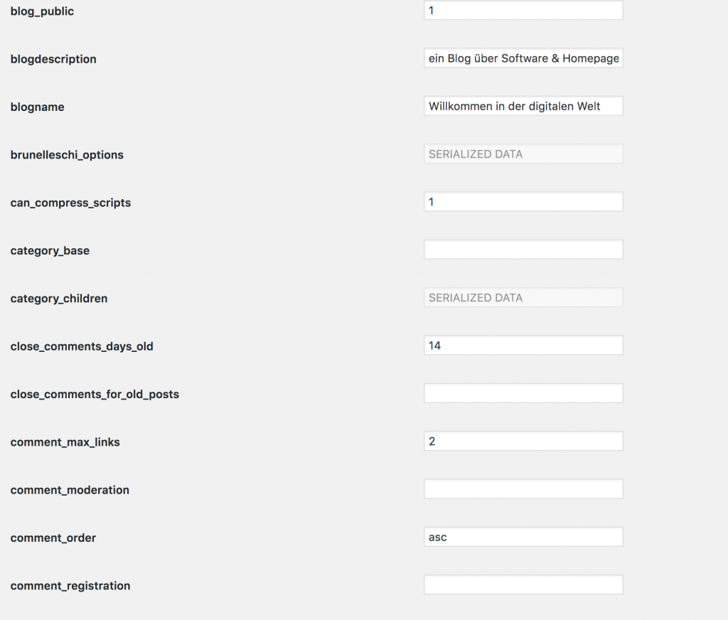 Optionen in WordPress- volle Admin-Power