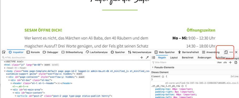 Bildschirmgrößen testen für Website-Check mobi